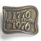 United States Bicentennial 1776 1976 Brass Color Used Belt Buckle