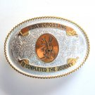 Clay Crossing Montana Silversmiths Belt Buckle