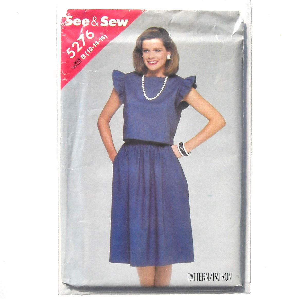 Top & Skirt Size 12 - 16 See Sew Butterick Sewing Pattern 5276