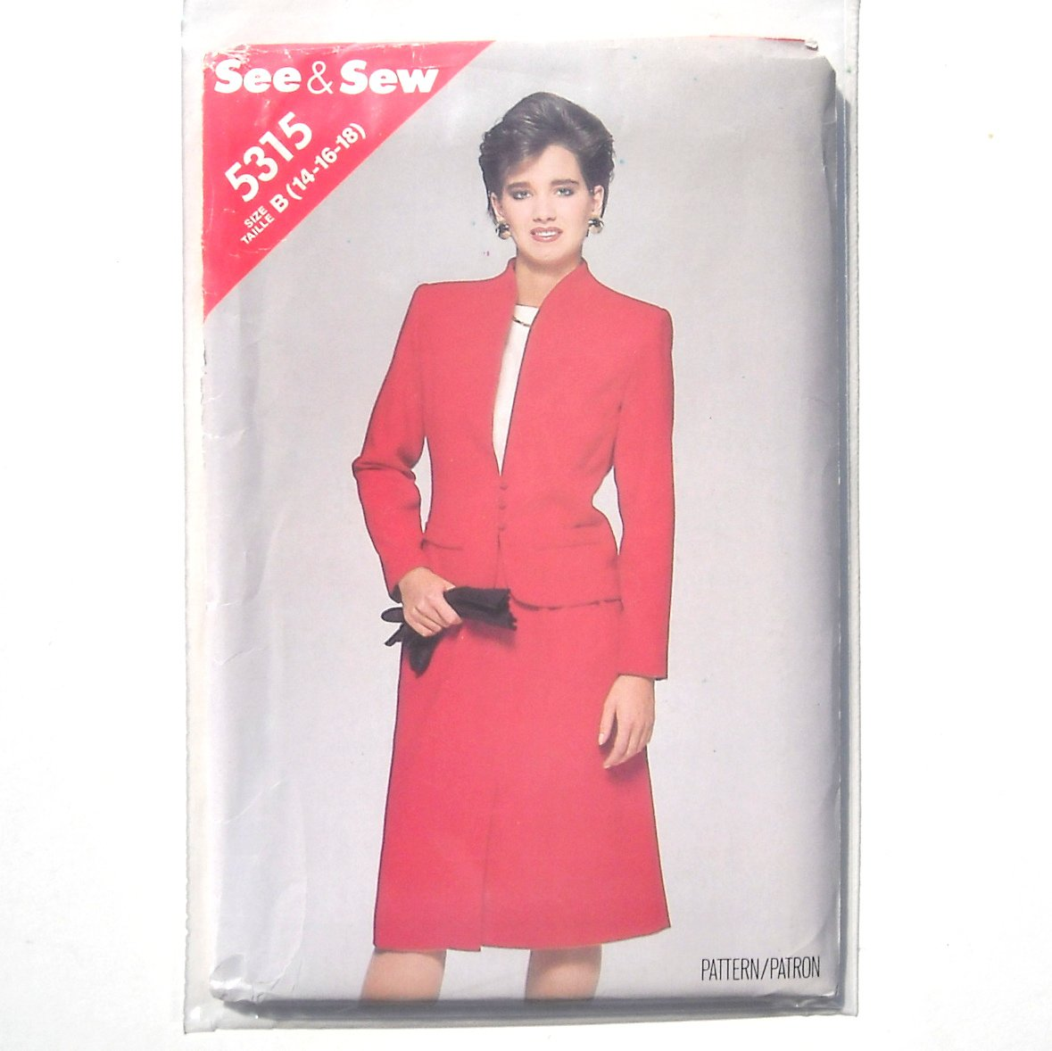 Butterick Sewing Pattern 5315 Size 14 - 18 See Sew Jacket and Skirt