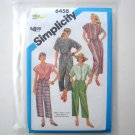 Simplicity Sewing Pattern 6458 Size 12 Misses Cropped Pants Pullover Tops