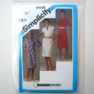 Misses Pullover Dress Size 12 Simplicity Sewing Pattern 6448