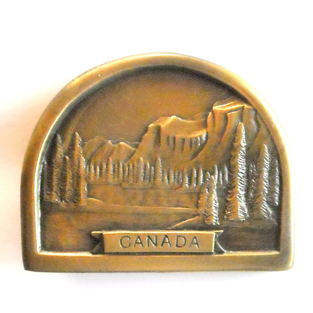 Canada Vintage 1976 Solid Brass Belt Buckle
