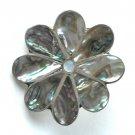 Abalone Flower Vintage Belt Buckle