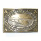 American Railroads JJ Solid Brass Belt Buckle