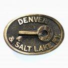 Denver Salt Lake Railway Adezy Solid Brass Belt Buckle