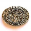 Tony Lama The Great Seal Of The State Of Nebraska Brass Belt Buckle