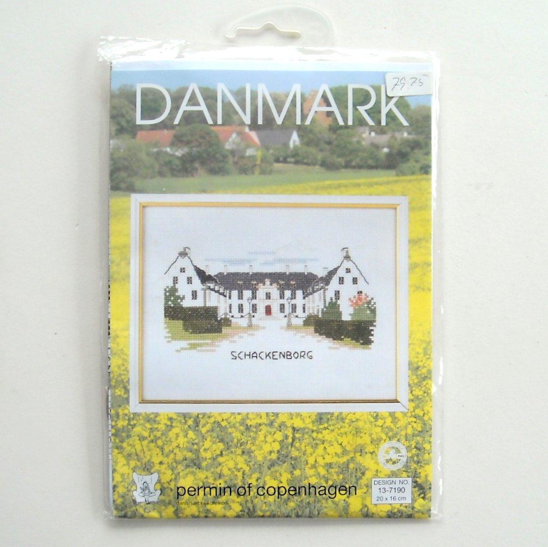 Schackenborg Danmark Permin Of Copenhagen Cross Stitch Kit
