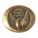 Ohio State Trooper Vintage Solid Brass Belt Buckle