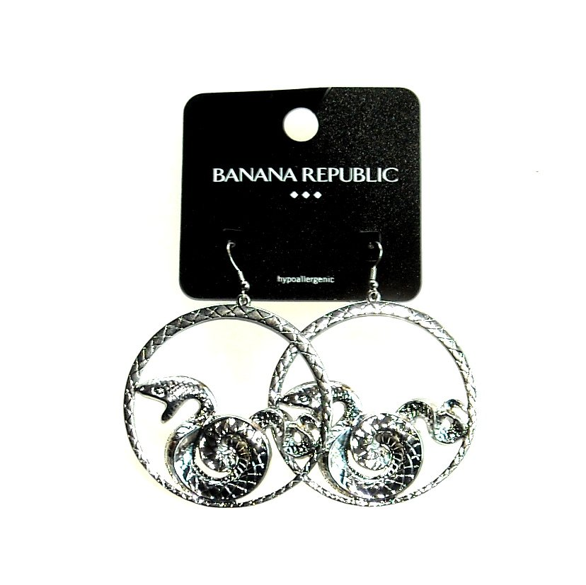 Banana Republic Dragon Large Round Earrings