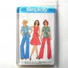 Junior Teens Cardigan Top Skirt Pants Size 13 - 16 Vintage Simplicity Sewing Pattern 7405