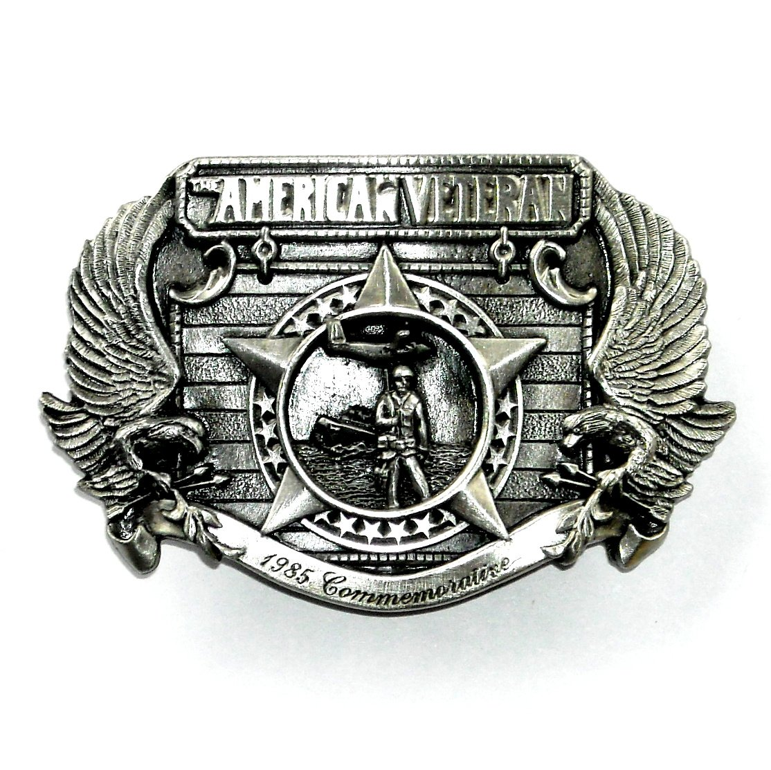 American Veteran 3D Limited Edition Siskiyou Pewter Belt Buckle