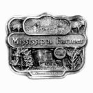 Mississippi Farmer American Farm Heritage 3D Limited Edition Pewter Belt Buckle 1987
