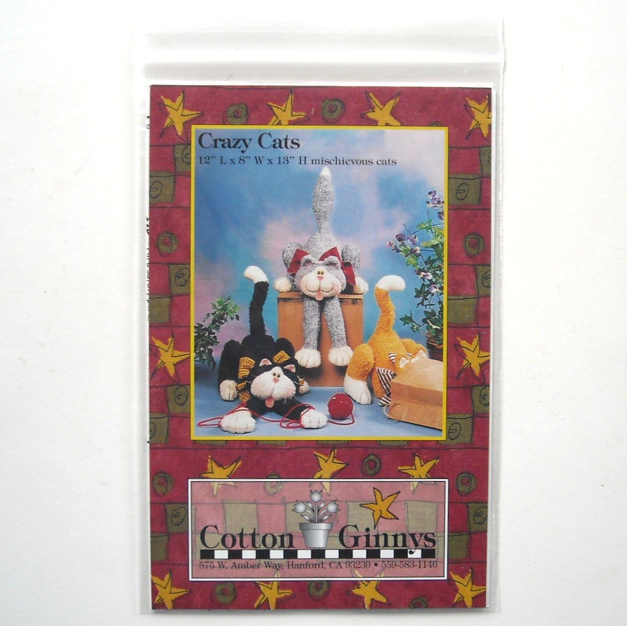 Crazy Cats Cotton Ginnys Dolls Pattern