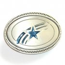Dallas Cowboys Blue Great American Products Fine Pewter NFL Belt Buckle