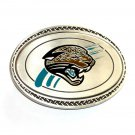 Jacksonville Jaguars Blue Great American Products Fine Pewter NFL Belt Buckle