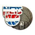 New Jersey Nets Basketball NBA Pewter GAP Belt Buckle