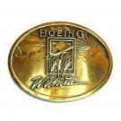Boeing Wichita 3D Brass Color Belt Buckle