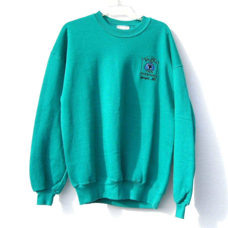 Puffin Inn Ogunquit Maine Knit Top Sweater size XL