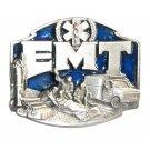 EMT First On The Scene 3D Blue Siskiyou Pewter Belt Buckle