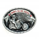 Born To Be Free Untamed Spirit 3D Siskiyou Pewter American Made Belt Buckle