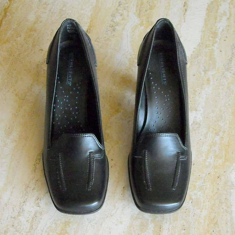 Highlights Women's Black Loafers Shoes Size 6.5