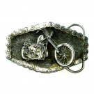 Chain And Bike Great American Solid Pewter Vintage belt buckle
