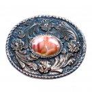 Agate Brumley Buckle Vintage Western Belt Buckle