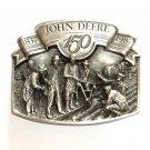 John Deere 150 Years 3D Limited Edition Pewter American Belt Buckle
