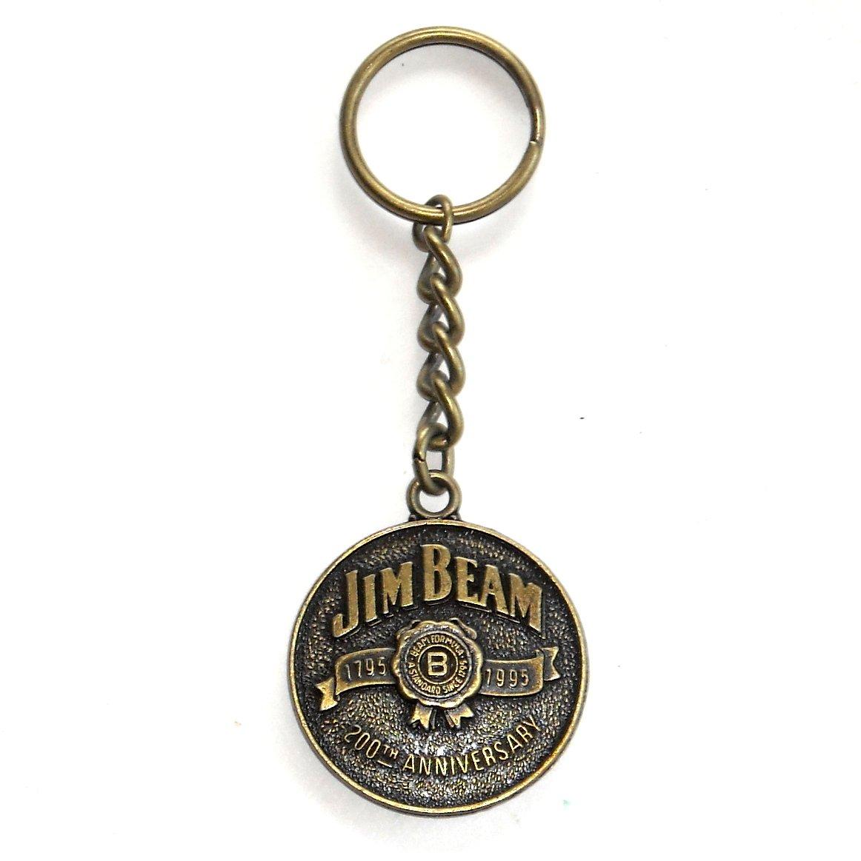Jim Beam Kentucky Bourbon 200th Anniversary Solid Brass Keychain