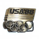 Seoul 1988 Olympic Brass Belt Buckle # 113