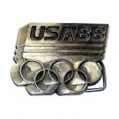 Seoul 1988 Olympic Brass Belt Buckle # 114