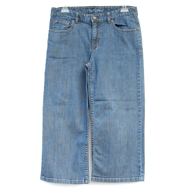 Liz Claiborne Womens Blue Capri Jeans Pants Size 6