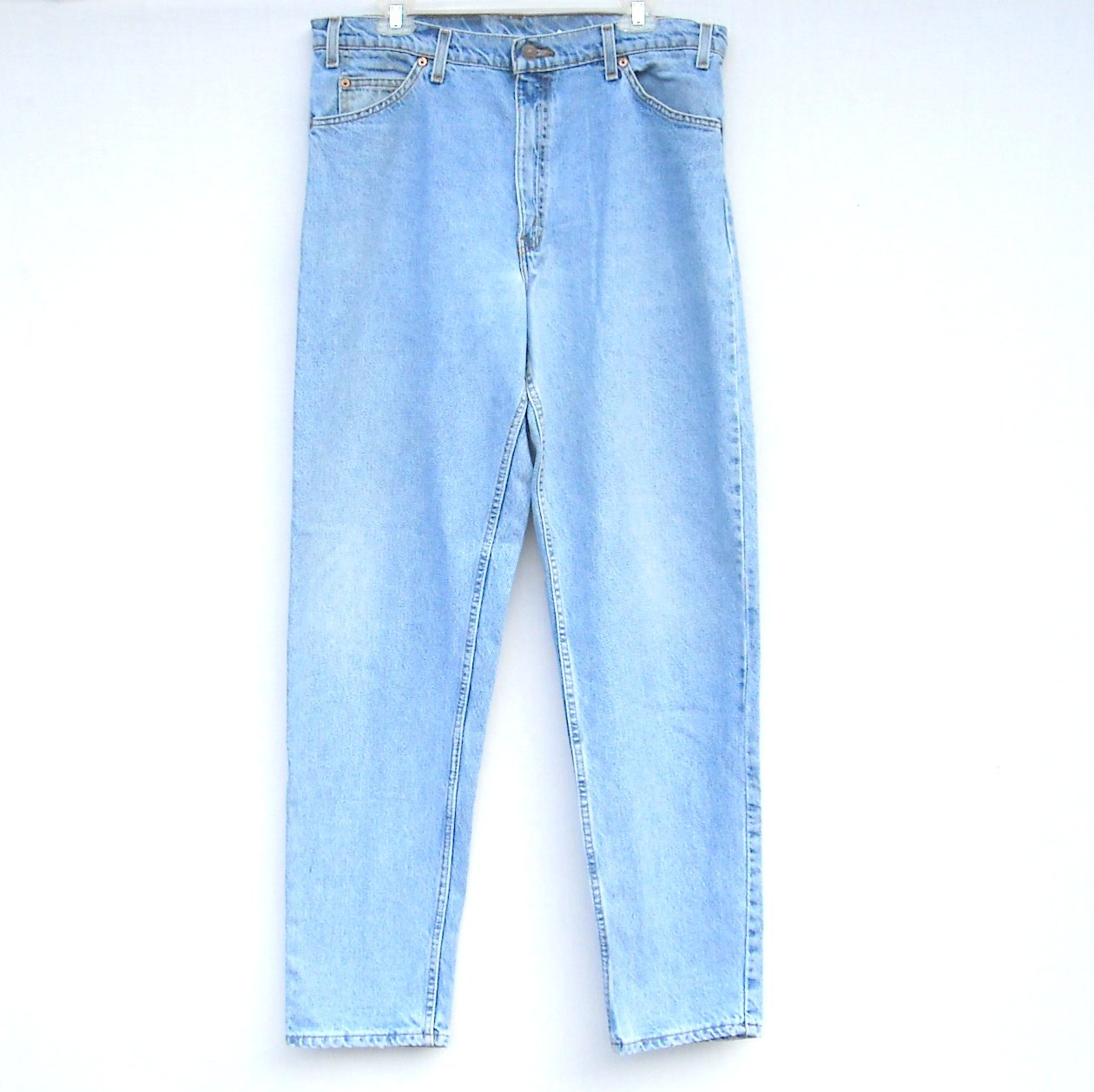 Levi Strauss 550 Relaxed Tapered Blue Jeans Size 36 X 34