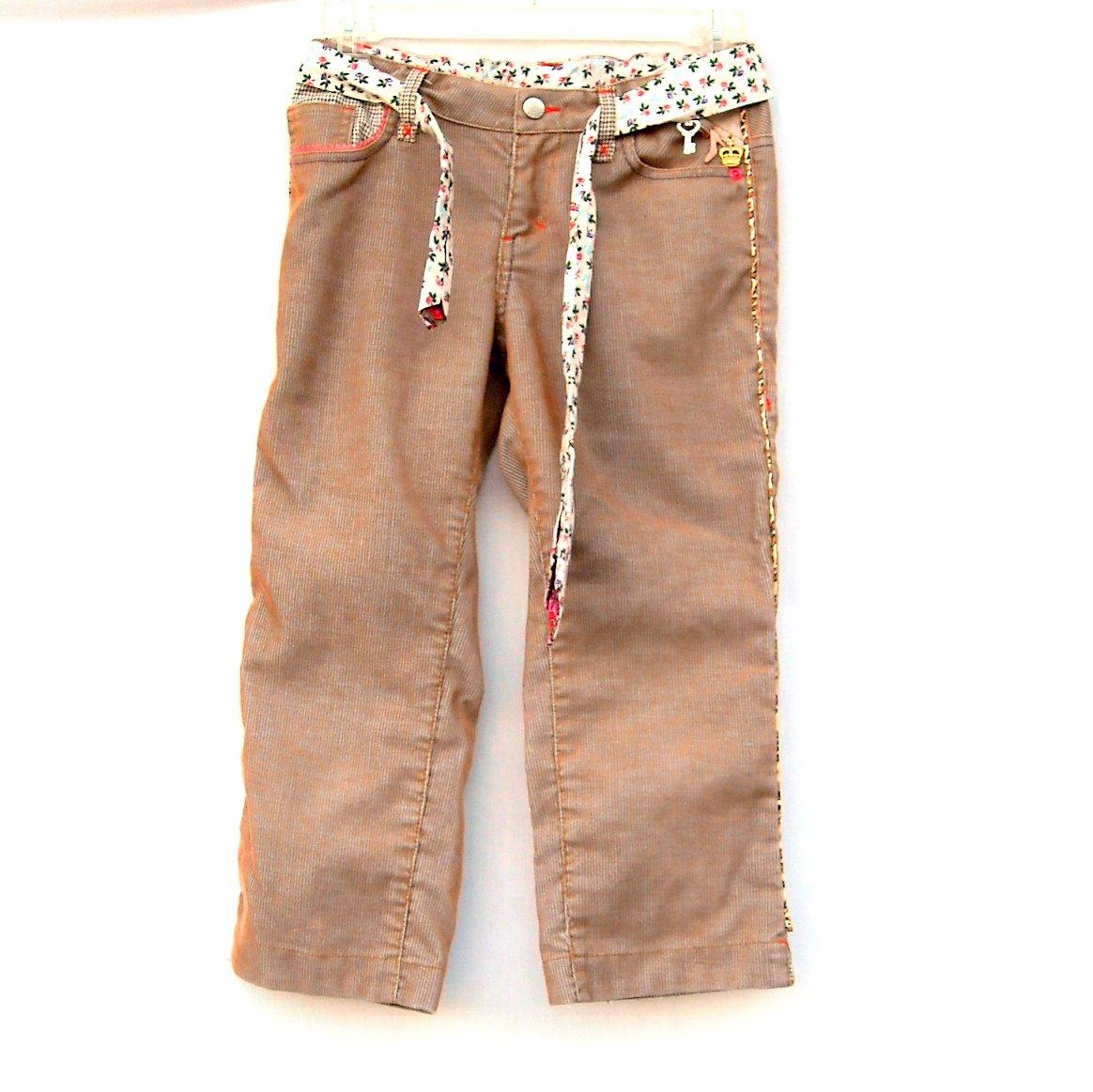 Oilily Girls Brown Capri Corduroy Pants Size 152