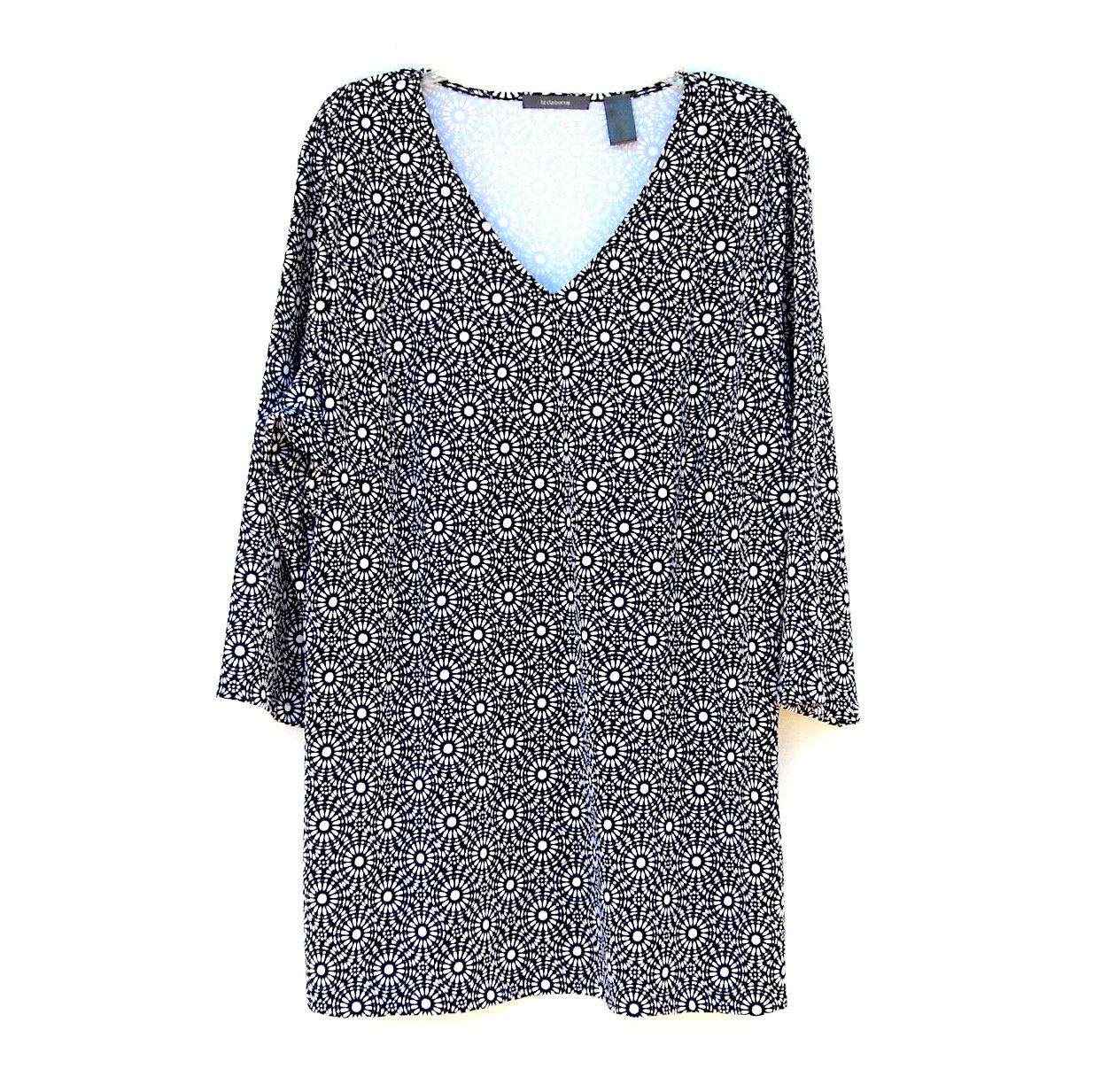 Liz Claiborne Womens Long Blouse Top Plus Size 2X