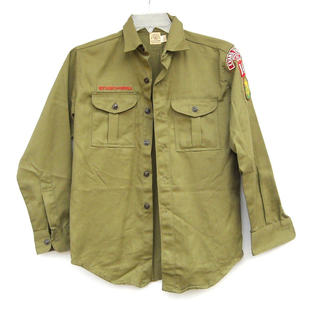 Boy Scouts Of America Vintage Uniform Shirt size 14.5