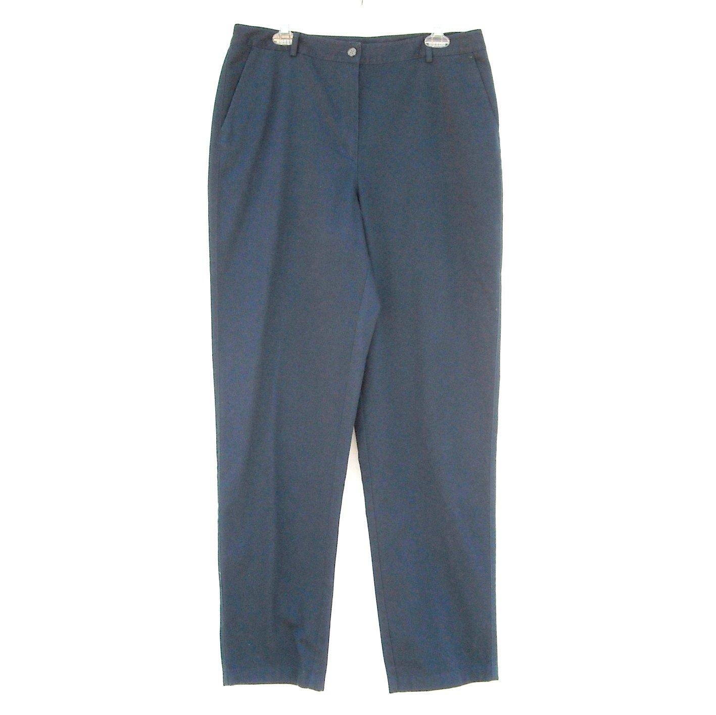 L L Bean Navy Dark Blue Pants size 14 Tall