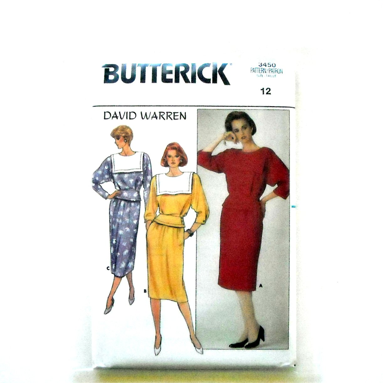 Misses Top Skirt Size 12 Vintage Butterick Sewing Pattern 3450