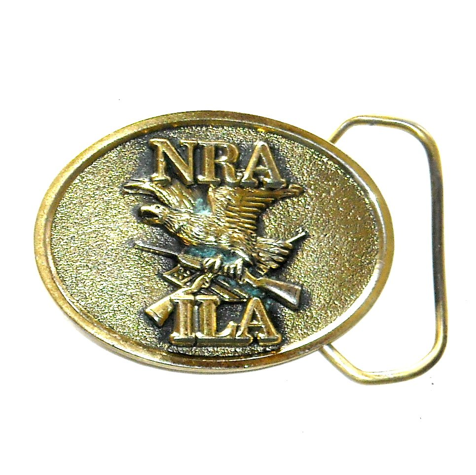 ILA NRA Great American Brass Small Belt Buckle