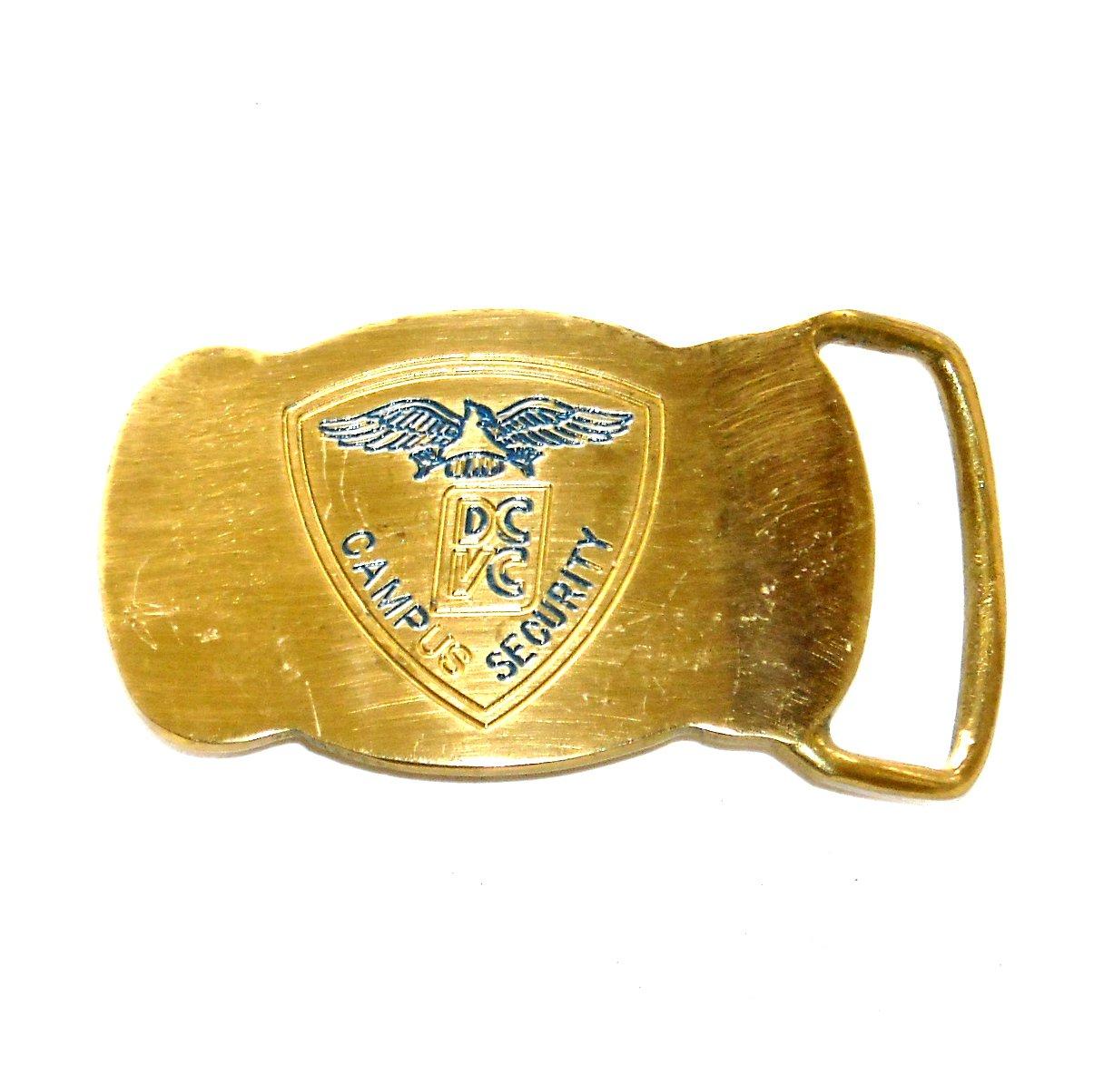 Campus Security DCVC Vintage Solid Brass Belt Buckle