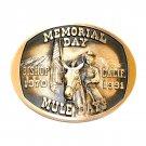 Mule Days Bishop California 1991 Bronze 3D Belt Buckle