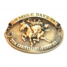 Mule Days Bishop California 1994 Bronze 3D Belt Buckle