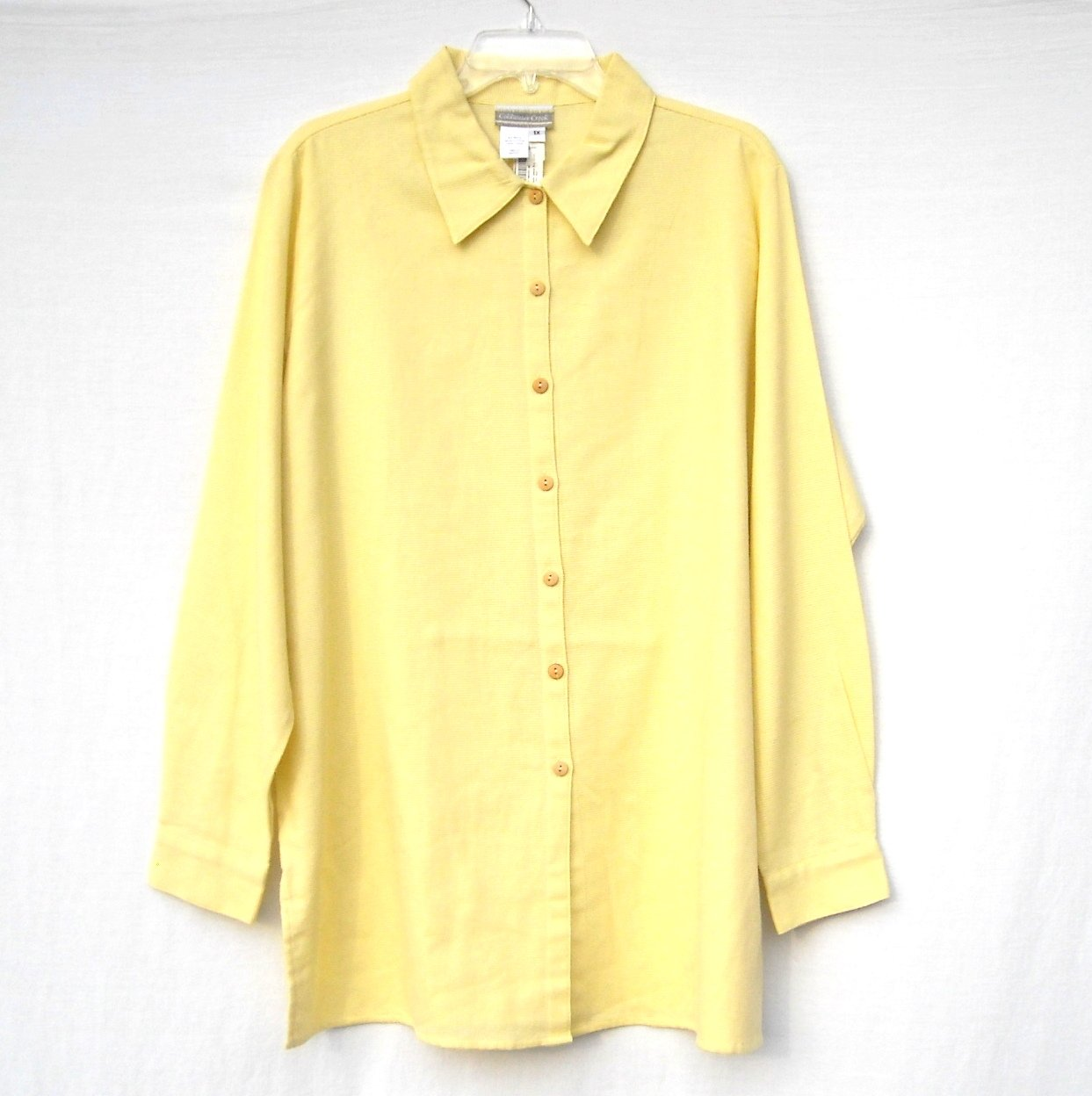 Coldwater Creek Womens Open Weave Cotton Shirt Size 1X