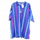 Arrow Golf Tournament Mens Short Sleeve Striped Shirt Size 2X BIG