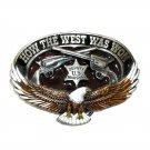 How The West Was Won GAP Pewter Belt Buckle