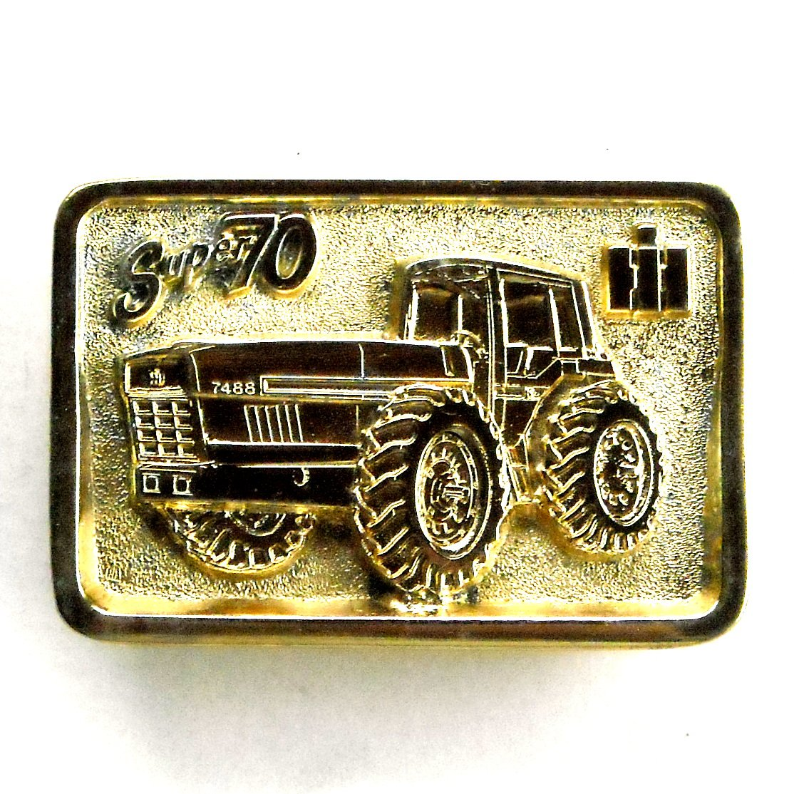 IH Super 70 Dallas Edition Gold Color Belt Buckle