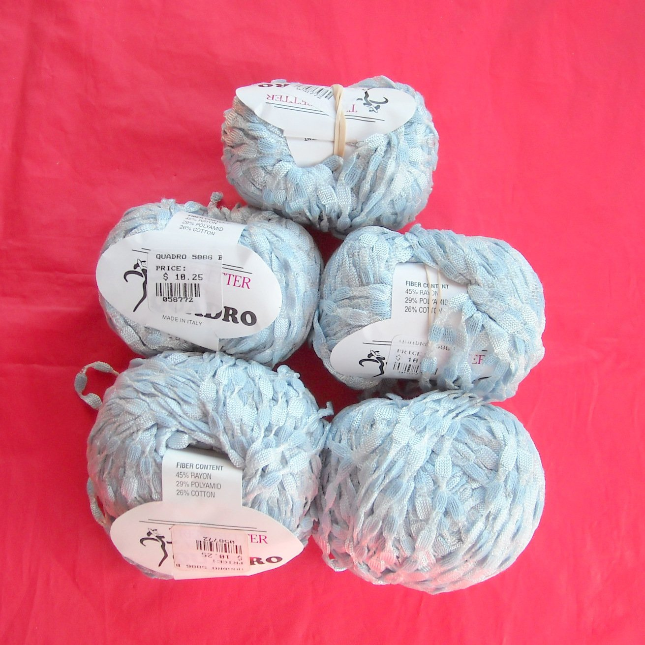 Trendsetter QUADRO Light Blue Yarn 5 Balls Color 5886