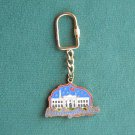 White House Washington DC Brass Keychain