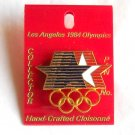 Collectors Los Angeles Olympics XXIII 1984 games USA tie tac hat lapel pin